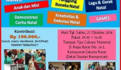 Workshop Natal oleh YPA Calvary Nasional