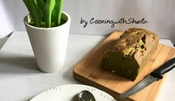Green Tea & Choc Chips Cake by Cooking with Sheila