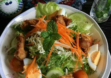 Japanese Sesame Dressing Chicken Salad ala Cooking with Sheila