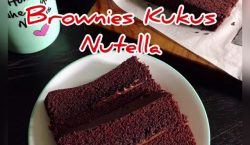 Brownies Kukus Nutella ala Cooking with Sheila