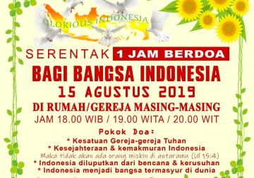 Serentak 1 Jam Berdoa Bagi Indonesia