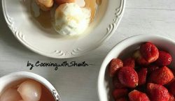 Lychee And Strawberry Spring Rolls ala Cooking with Sheila