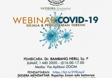 Sathora Jakarta Adakan Webinar Covid-19, Gejala & Pengobatan Terkini Covid-19