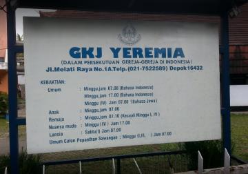 """GKJ """"YEREMIA"""" DEPOK"""