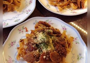Filipino Tagliatelle Pasta ala Cooking with Sheila