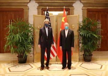 John Kerry and Xie Zhenhua